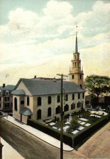 A view of Trinity Church and Trinity Churchyard, where Ternay is buried.