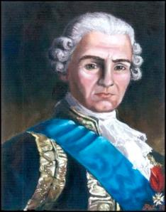 Portrait of General Rochambeau by Rachel LePine