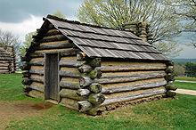 Log Hut at Valley Forge