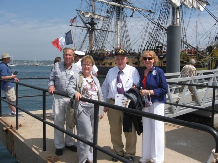 Hermione with David Beglan and wife, Mary Conseur, John and Jini 7-9-2015 August 19th