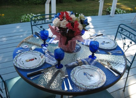 Marquis de Lafayette's theme table setting